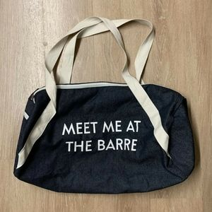 Private Party Meet Me At The Barre Gym Bag